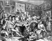 The Rake's Progress. Plate III. The Orgy at the Rose Tavern