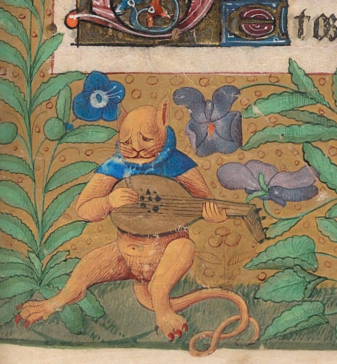 melancholic-pussy-cat-book-of-hours-france-15th
