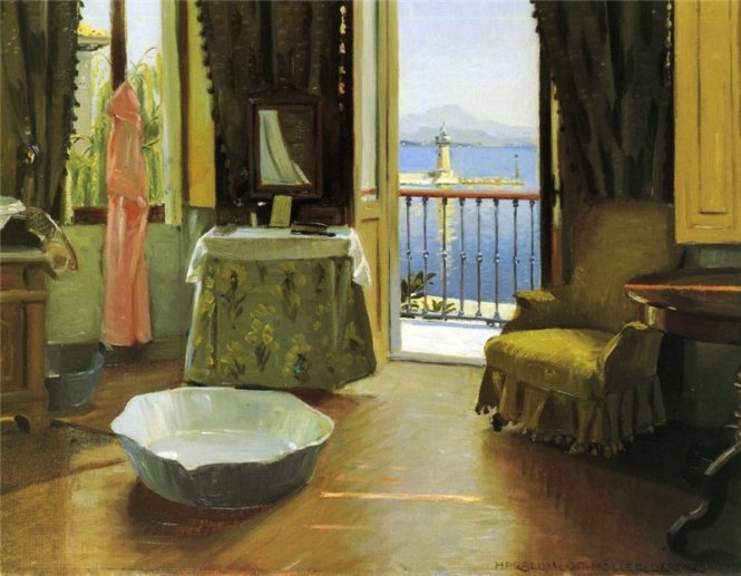 Harald Slott-Møller A View of Lake Garda at Desenzano 1910