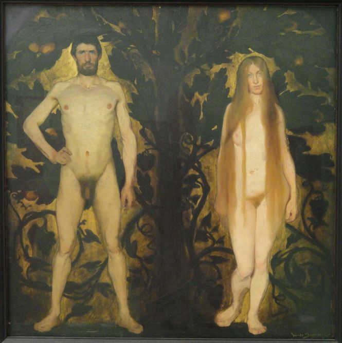 Harald Slott-Møller_Adam_and_Eve_1891