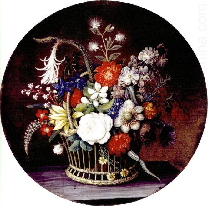 Magdalene Margrethe Barens-korg med blomster